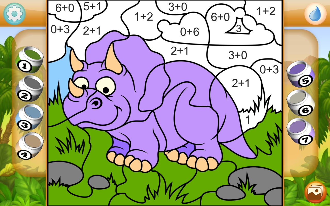 Dinosaurs Coloring Game PRO Screenshot