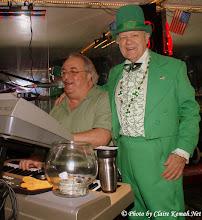 Photo: Claudio Sereni and that Leprechaun (Tom Richards) at Amadeus Italian Restaurant & Bar.