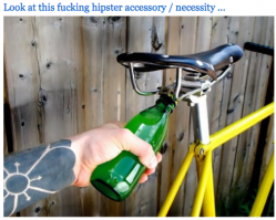fixie bike accessory bottle opener beer hipster