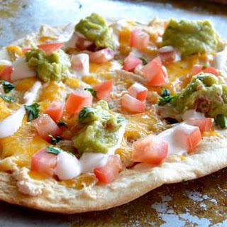 Healthy White Bean Tortilla Pizza.
