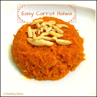Easy Carrot Halwa (Gajar Halwa).