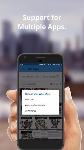 WhatSaga   Longer Stories   Save Status screenshot 6