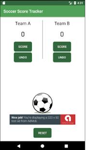 Soccer Score Tracker - náhled