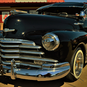 El Caro Negro. (The black car) by Benito Flores Jr - Transportation Automobiles ( chevy, low rider, texas, car show, killeen,  )