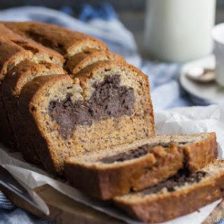 Chocolate Peanut Butter Cheesecake Stuffed Banana Bread