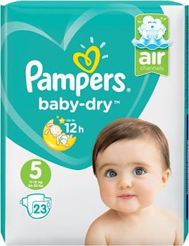 Pampers Baby-Dry Nappies - Size 5, 23pk