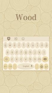 Classic Wood Hoppin Keyboard Theme - náhled