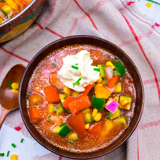 Summertime Chunky Gazpacho Soup Recipe