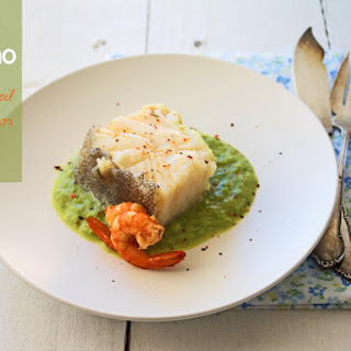 Cod with Asparagus puree.