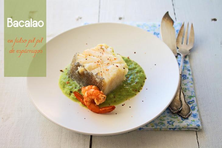Cod with Asparagus puree