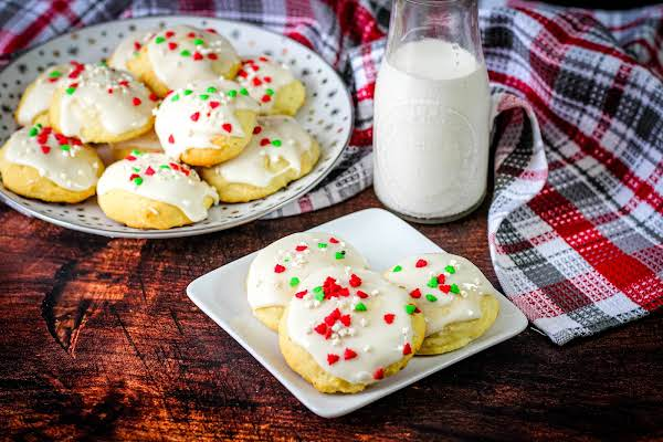 Holiday Gifting Ricotta Egg Biscuits On A Plate.