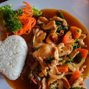 Thai Chicken Rice by Loh Jiann - Food & Drink Plated Food ( chicken, rice, thai, culinary, shape )