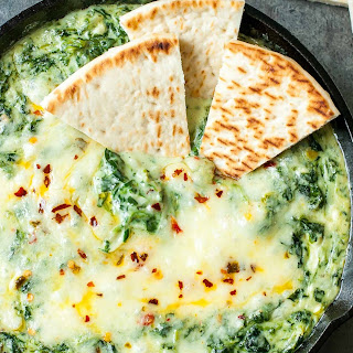 Cheesy Baked Shrimp and Spinach Dip.