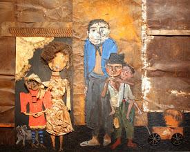 Photo: Antonio Berni La familia de Juanito Laguna -detalle- 1960. Mu.ZEE, Ostende, Bélgica. Expo: Antonio Berni. Juanito y Ramona (MALBA 2014-2015)