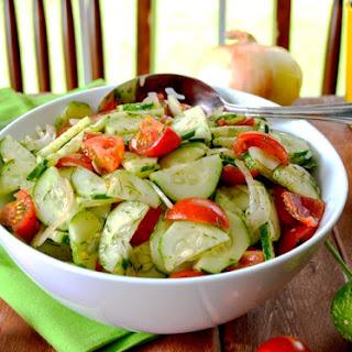 Cucumber & Tomato Dill Summer Salad