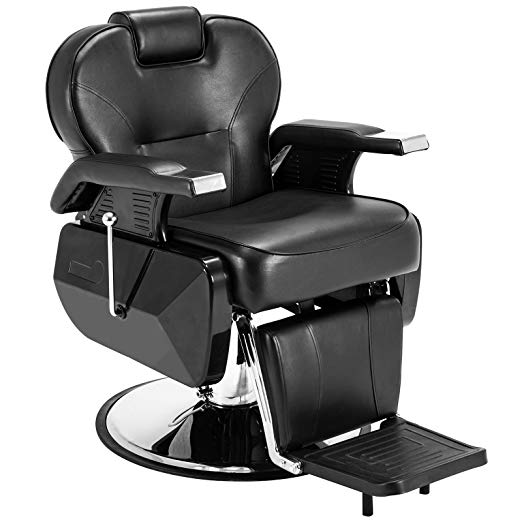 Black All Purpose Hydraulic Recline Barber Chair