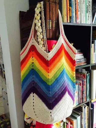 DIYのかぎ針編みバッグ