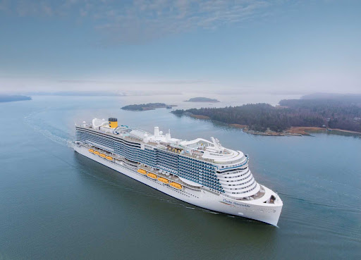 Costa Smeralda, flagship of the Costa Cruises fleet, offers 5- to 7-night sailngs in the Western Mediterranean.