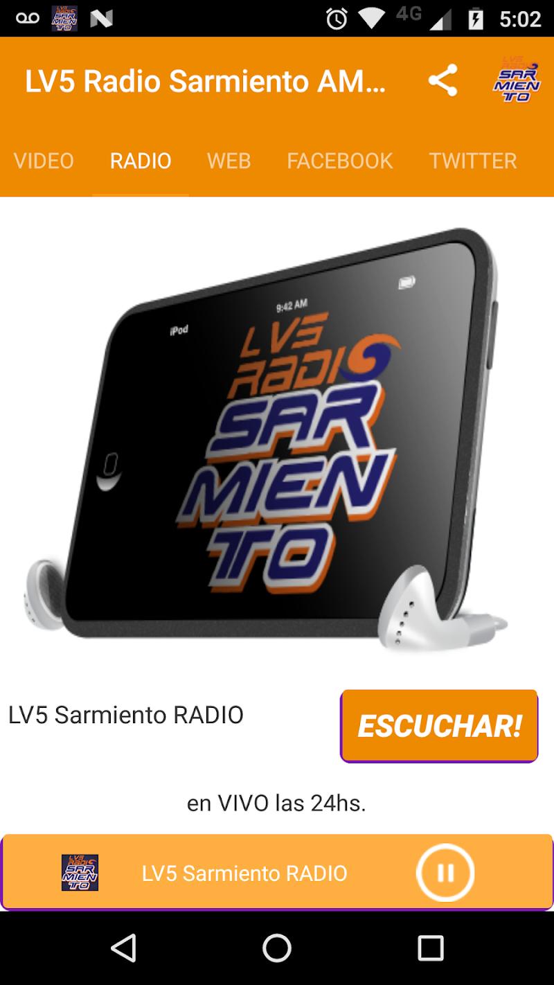 Скриншот LV5 Radio Sarmiento AM 1120