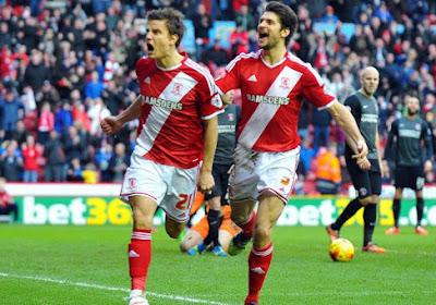Middlesbrough et Vossen en tête en Championship