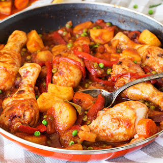 Chicken Afritada With Pineapple.