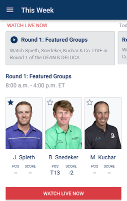 PGA TOUR LIVE - screenshot
