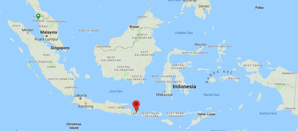 bali indonesia map for bali visa on arrival for indian citizens blog