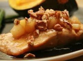 Baked Apple Salmon Steaks Recipe