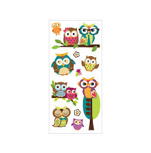 Paper House Puffy Stickers 3X6.35 - Owls