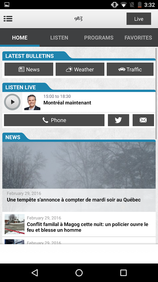 Cogeco Radio- screenshot