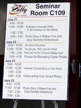 Photo: Geeks on Tour presented 7 seminars during the rally! Only the ones on Bourbon and Fuel on this list were not ours.