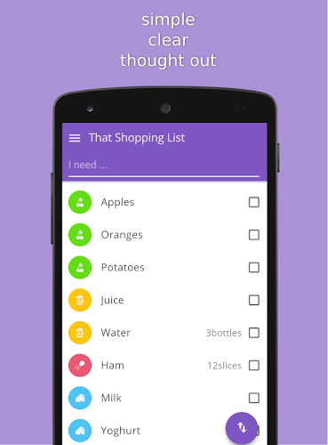That Shopping List Android App Screenshot