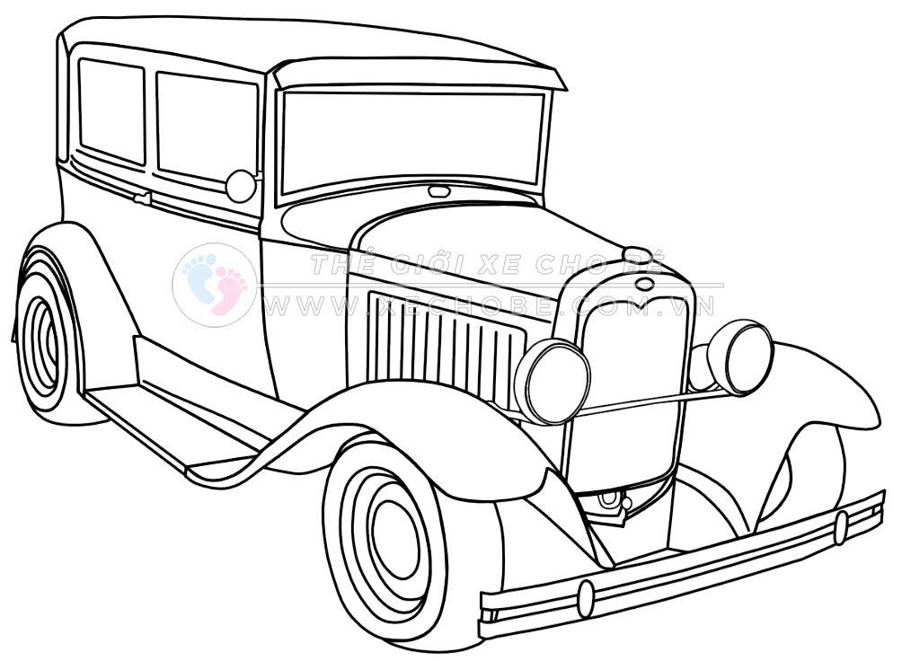 Tranh tô màu xe ô tô cho bé 12