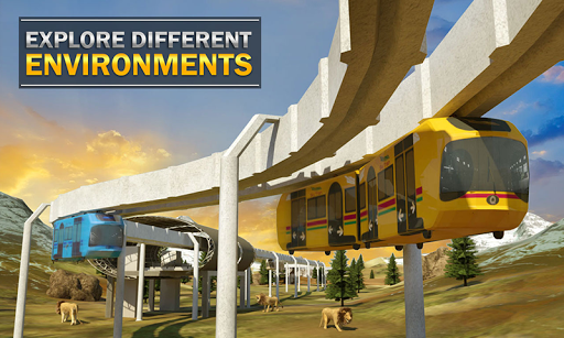 Elevated Train Driving Simulator: Sky Tram Driver apktram screenshots 7