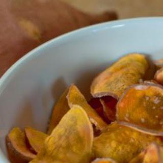 Healthy Homemade BBQ Sweet Potato Chips.