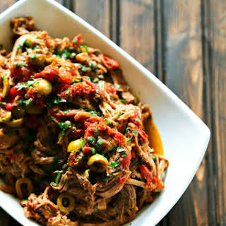 Slow Cooker Italian Shredded Beef.