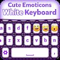 Cute Emoticons White Keyboard icon