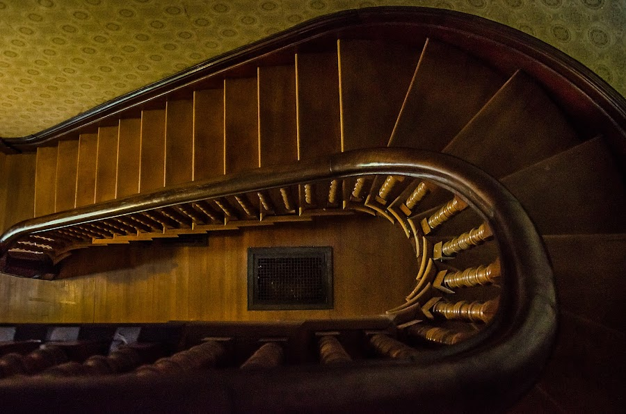 Interior Staircase by Florin Marksteiner - Buildings & Architecture Other Interior ( wood, vintage, staircase, view, top,  )