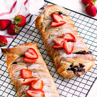 Chocolate Stuffed Puff Pastry Braid.