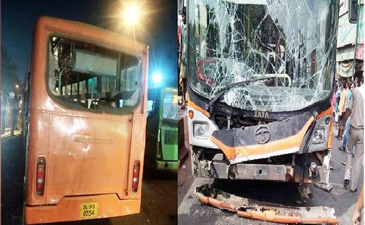 दिल्ली के नंद नगरी में सड़क हादसा, बस की चपेट में आने से 3 लोगों की हुई मौत