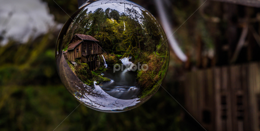 Grist Mill Globe by James Case - Landscapes Waterscapes ( mill, nature, ceedar creek, grist mill, landscape, historic,  )