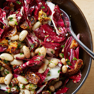Radicchio Salad with Beans, Figs, and Walnuts