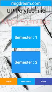 UP Polytechnic Math formulas - náhled