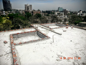 Photo: First Floor Rooftop, showing Sunken Areas for future bathrooms