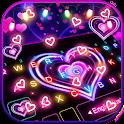 Neon Lights Heart Keyboard Theme icon