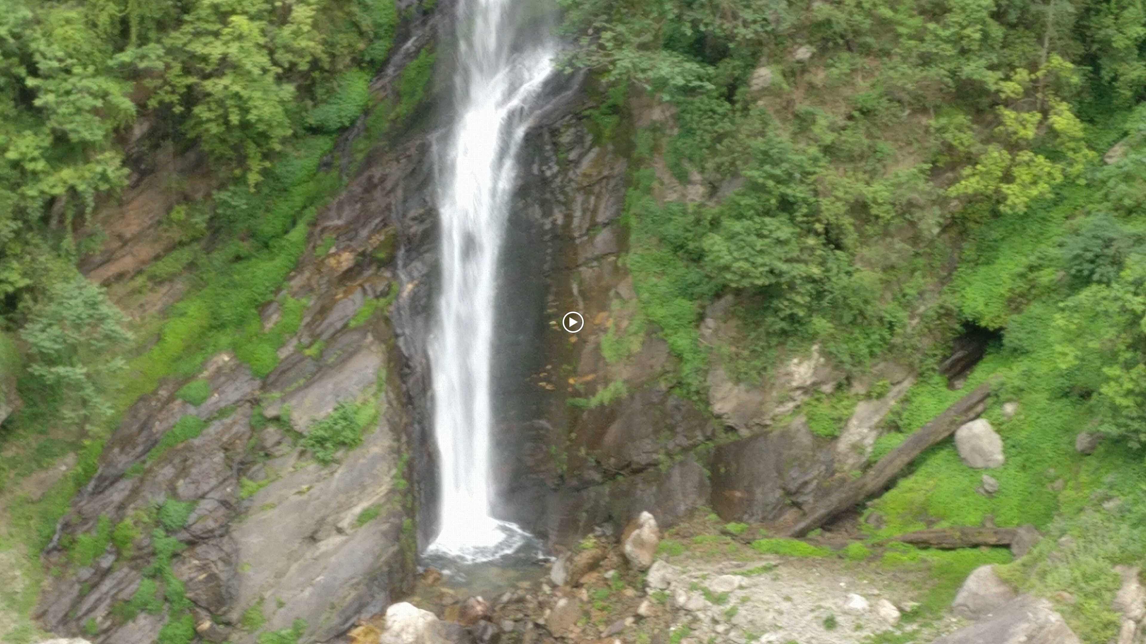 The Waterfall across the Nepali border