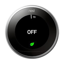 Nest thermostat set to Off