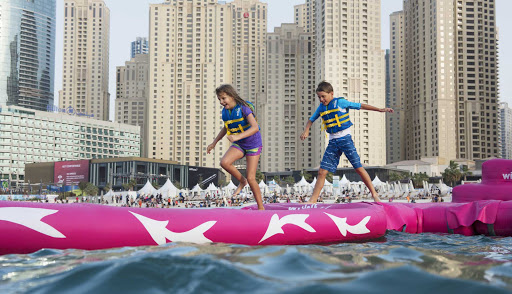 Kids will find plenty of water activities to keep them occupied on the beaches of Dubai.