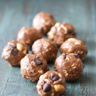 Peanut Butter and Chocolate Protein Bites.