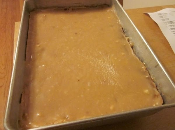 NOTE:  If you are icing the cake with the Peanut Butter Icing below,...